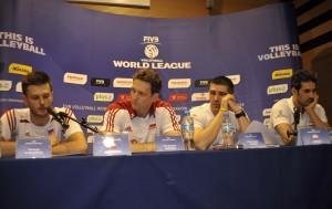 Od lewej: Michał Winiarski, Stephane Antiga, Slobodan Kovac i Mir Saeid Marouflakrani (fot. fivb.org)