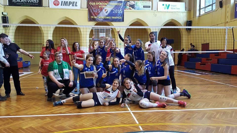 Kadetki Impel Wrocław 2016 - awans do finału (fot. Młoda Gwardia - Facebook)