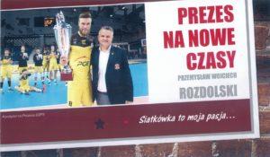 """""""Prezes na nowe czasy"""" - z taką ulotką pojawił się Wojciech Rozdolski na Walnym Zgromadzeniu"""